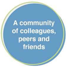 graphic - A community of colleagues, peers and friends